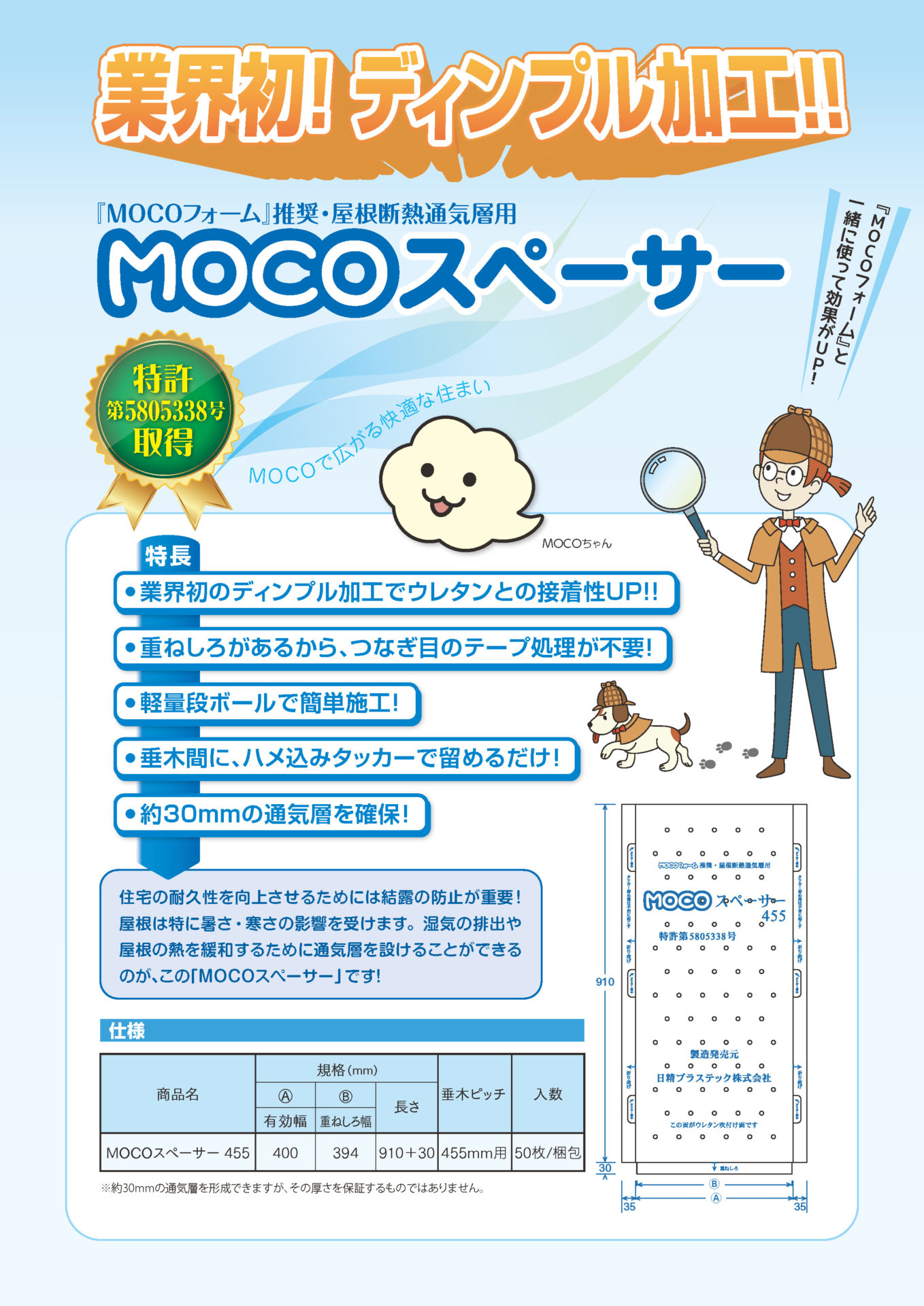 MOCOスペーサー表